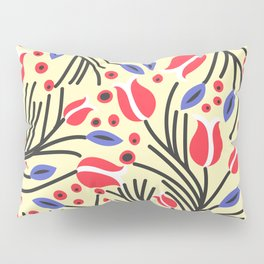 Waves of Flower (Bright Color Floral) Pillow Sham