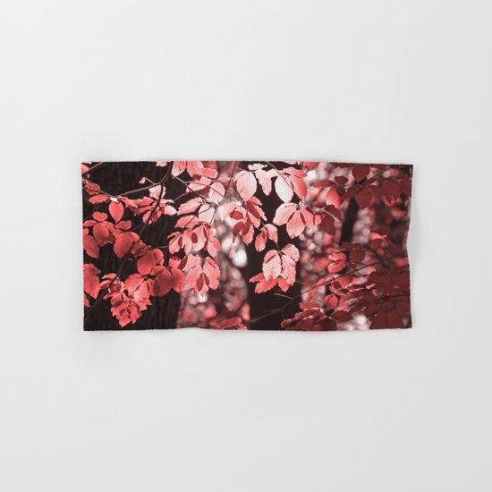 Red leaves Hand & Bath Towel