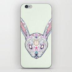 Wonderland Rabbit Sugar Skull iPhone & iPod Skin