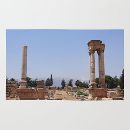 Ruins - Pillars & Mountains  Rug