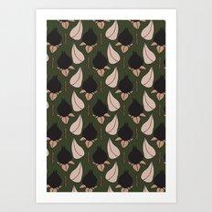 Black Rose Print  Art Print