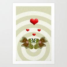 Caterpillars's Love Art Print