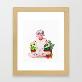 Plant lover Framed Art Print