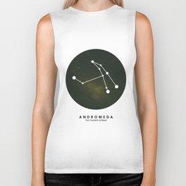 Andromeda - Star Constellation Biker Tank