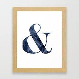 & BLUE MARBLE Framed Art Print