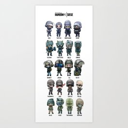"Rainbow Six: Siege ""SKINS"" Art Print"