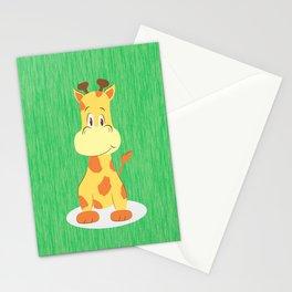 A happy giraffe Stationery Cards