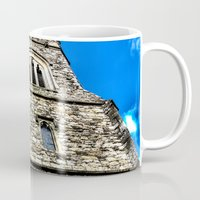 medieval Mugs featuring Medieval Church by David Pyatt