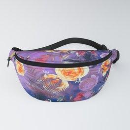 flowers purple Fanny Pack