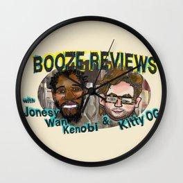 BOOZE REVIEWS Wall Clock
