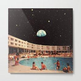Lunar Pool Life Metal Print
