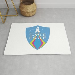 Space Force Space Farce Logo graphic parody Rug