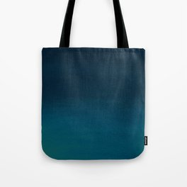 Navy blue teal hand painted watercolor paint ombre Tote Bag
