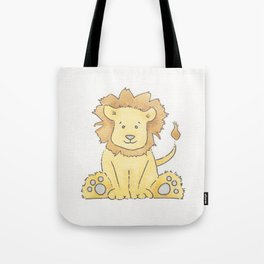 Watercolor Lion Tote Bag