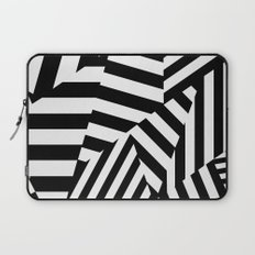RADAR/ASDIC Black and White Graphic Dazzle Camouflage Laptop Sleeve
