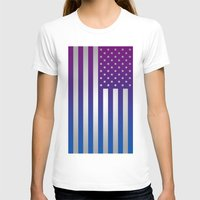 american flag T-shirts featuring American Flag by Tiede van der Steege