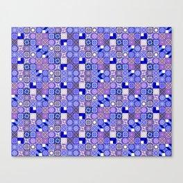 Mixed Oriental Tiles - Blue Violet Canvas Print