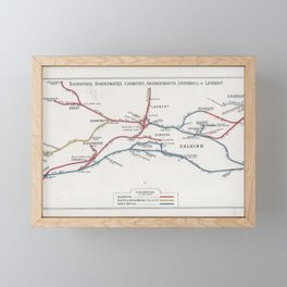Railway Junction Diagram (1914) 031 - Falkirk, Bonnywater, Grangemouth Framed Mini Art Print