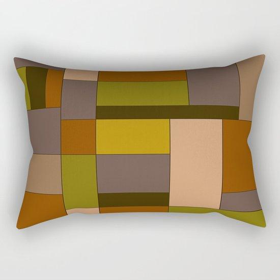 Abstract #370 Mondrian #6 Rectangular Pillow