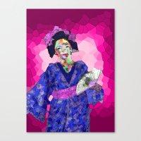 nori Canvas Prints featuring Maiko Nori by Coconut Lime Design