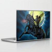 heavy metal Laptop & iPad Skins featuring Heavy Metal Knights by Sandra Chang-Adair