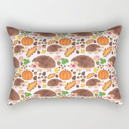 Autumn Hedgehog Rectangular Pillow