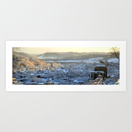 Don Knotts Boulevard in Winter Art Print