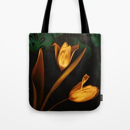 Tulips of the golden age Tote Bag
