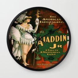 Vintage poster - Aladdin Jr. Wall Clock
