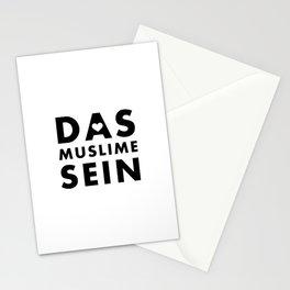 Das Muslime sein [WB] Stationery Cards