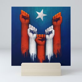 Puerto Rico power of the people Mini Art Print