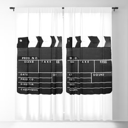 Film Movie Video production Clapper board Blackout Curtain