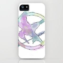 Mockingjay Watercolors iPhone Case