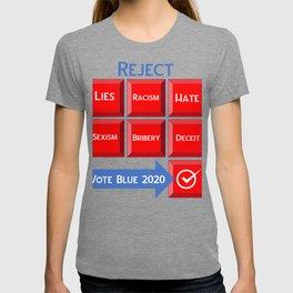 Reject the Republican Party Vote Blue 2020 T-shirt