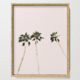 Desert, Pink Palms Serving Tray