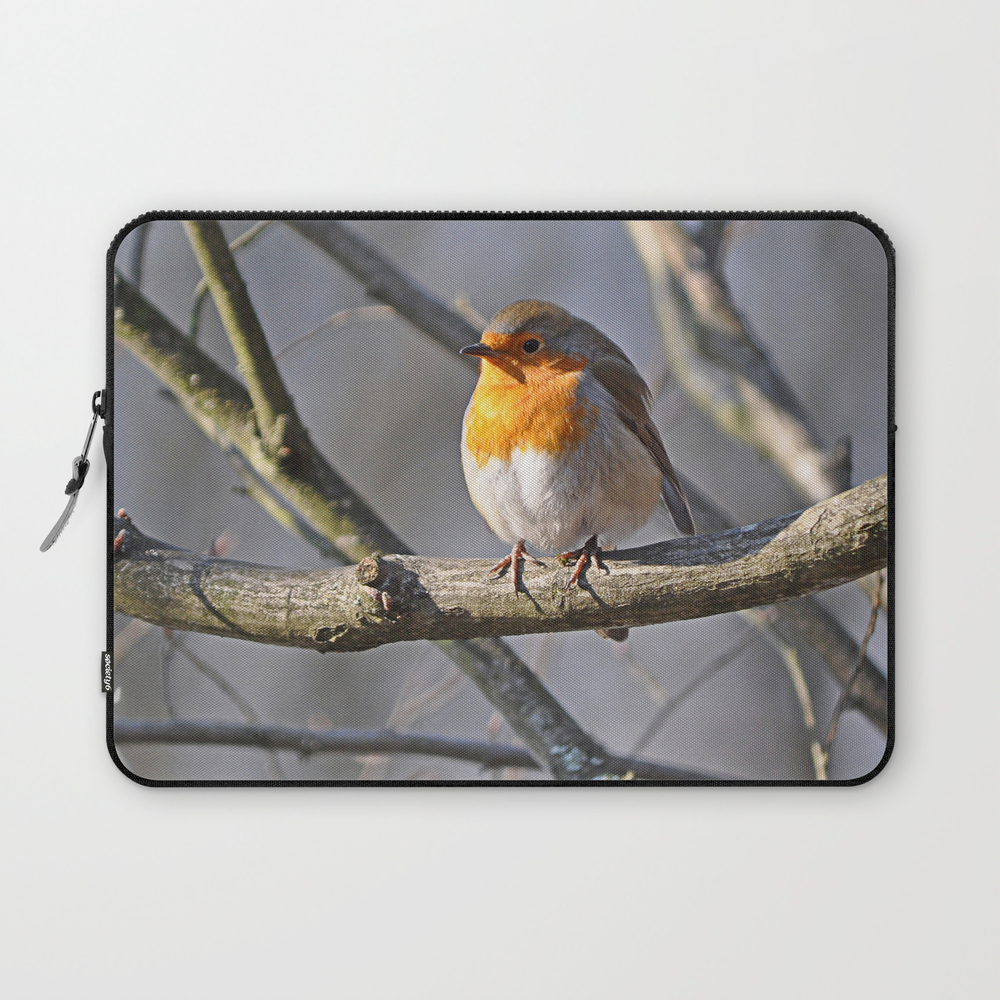 Fluffy Robin Redbreast Laptop Sleeve (LSV915575) photo