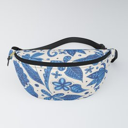 blue floral Fanny Pack