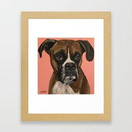 Boxer Art, Cute Boxer Art Framed Art Print
