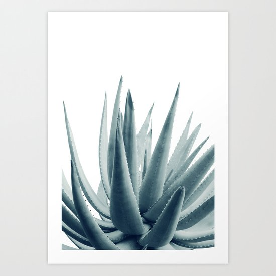 Agave Blue Vibe #1 #tropical #decor #art #society6 by anitabellajantz