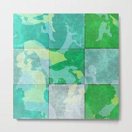 Tiled abstract Metal Print