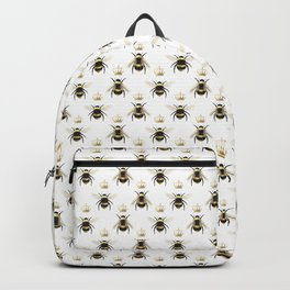 Gold Queen bee / girl power bumble bee pattern Backpack