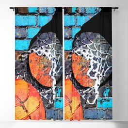 Baskeball art swoosh 66 Blackout Curtain