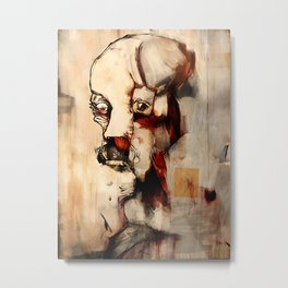 Portrait of a Distracted Man Metal Print
