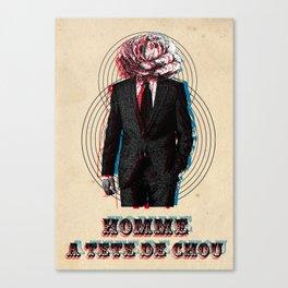 l'homme à la tête de chou Canvas Print