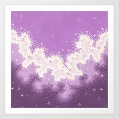 Lavender Chevron Queer Pride Galaxy Art Print