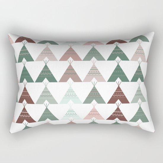 Teepee Pattern Rectangular Pillow
