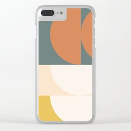 Abstract Geometric 02 Clear iPhone Case