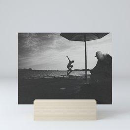 Skateboarding is not a crime Mini Art Print