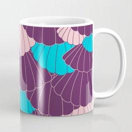 Scallop Abstract - Purple, Pink, Blue Coffee Mug