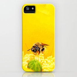 Cactus Flower, Bee and Grasshopper iPhone Case